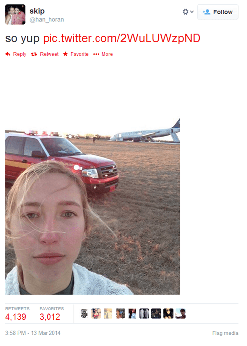 selfie plane crash airplane - 8106254592