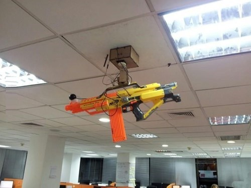 Nerf Photo workplace sentry guns