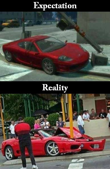 expectation vs. reality GTA V Grand Theft Auto - 8106275328