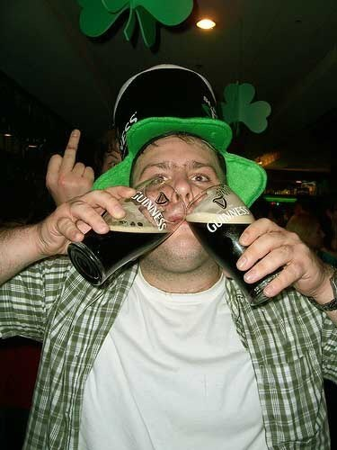 beer St Patrick's Day double fisting guinness funny - 8106292480