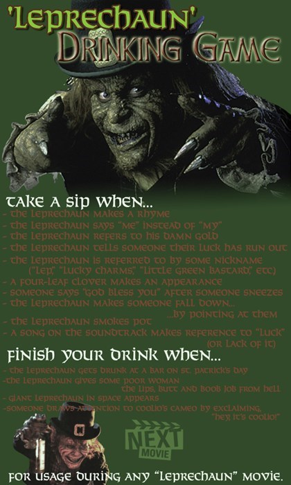 bad idea movies leprechaun funny drinking games - 8106349824