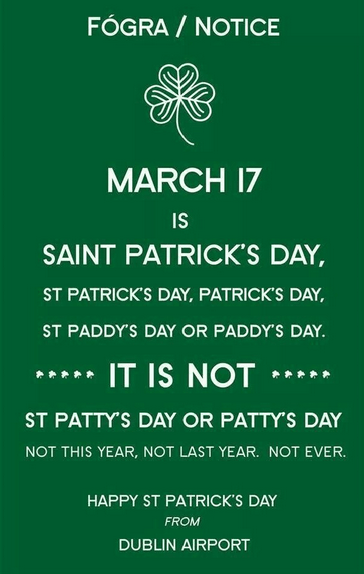 sign St Patrick's Day spelling funny - 8106371840