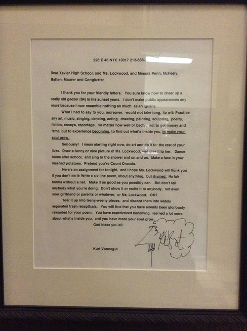 kurt vonnegut letters awesome funny - 8106384384