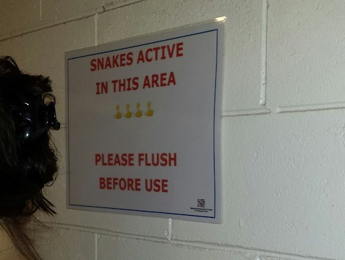 signs bathroom snakes funny