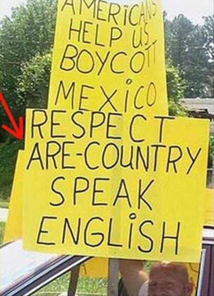 mexico immigration stupid people spelling - 8106440704
