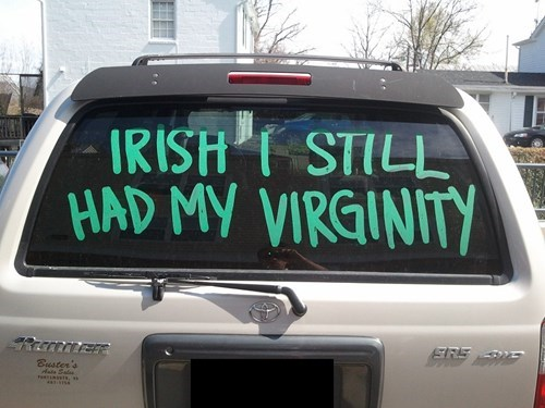 St Patrick's Day,sexy times,virginity,funny,after 12,g rated