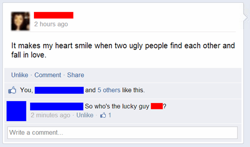 ugly people sick burn burn - 8106452480