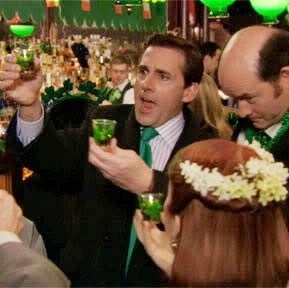 monday thru friday,the office,St Patrick's Day,work