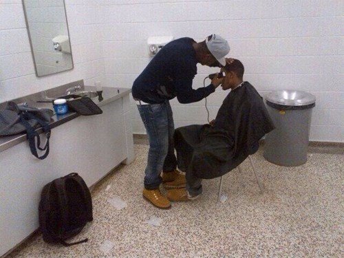 wtf haircut bathroom high school funny - 8106520576
