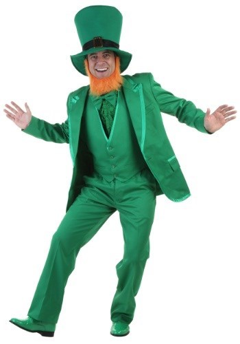 poorly dressed St Patrick's Day suit leprechaun - 8106530048