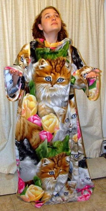 robe crazy cat lady poorly dressed Cats g rated - 8106542592