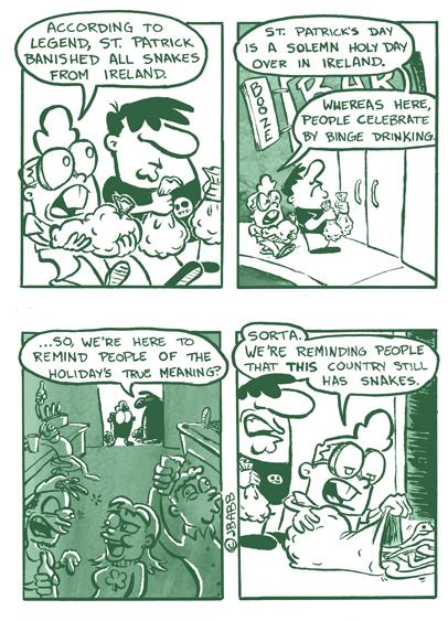 St Patrick's Day snakes web comics - 8106552320