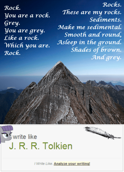 poem rocks poetry tolkien maud pie