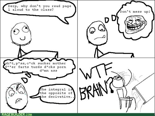 trollface school reading scumbag brain - 8108402688