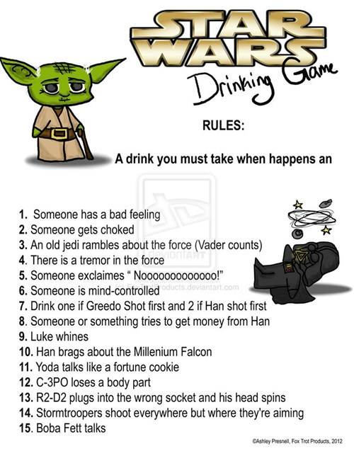 star wars drinking games - 8109335040