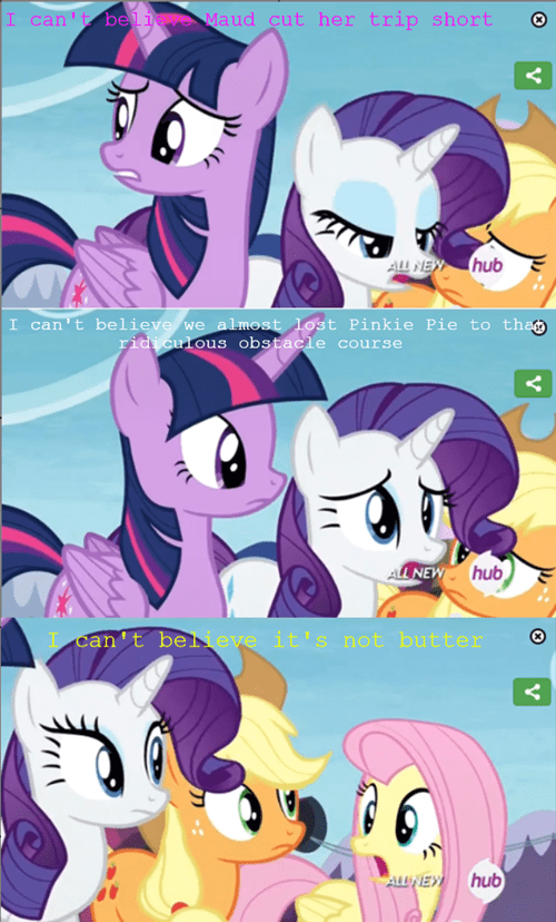 fluttershy,i-cant-believe-its-not-butter,twilight sparkle,rarity