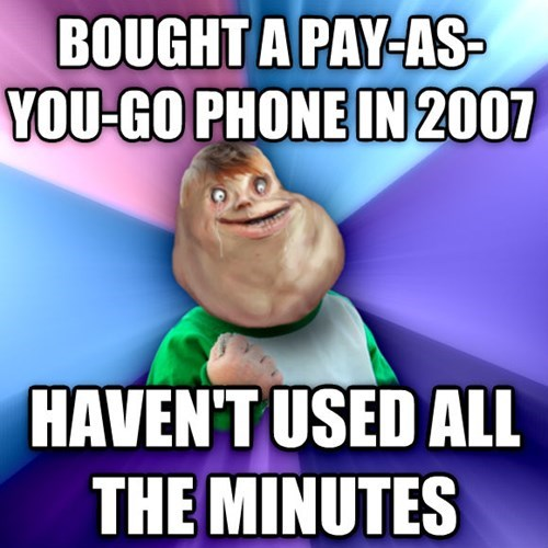 forever alone phones success kid - 8109644288