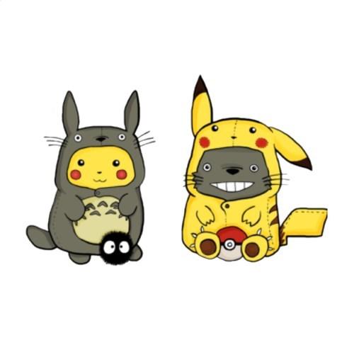 totoro,tshirts,pikachu