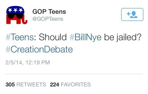 bill nye creationism gop teens - 8109739776
