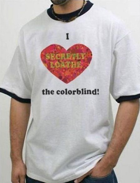 color blind color blindness t shirts - 8109811456