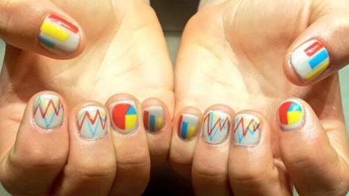 monday thru friday poorly dressed graphs nail art - 8110136576