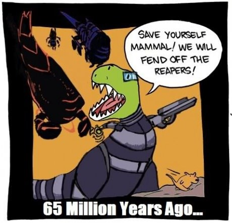 mass effect mammals dinosaurs web comics reapers