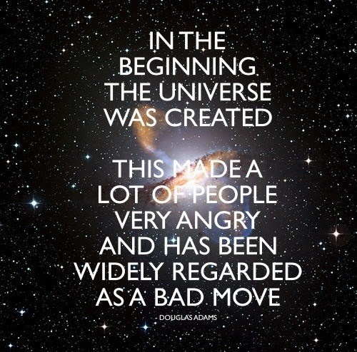 Douglas Adams,universe,Hitchhikers Guide To the Galaxy,funny