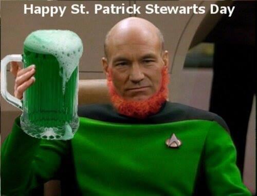 St Patrick's Day Star Trek patrick stewart - 8110423040
