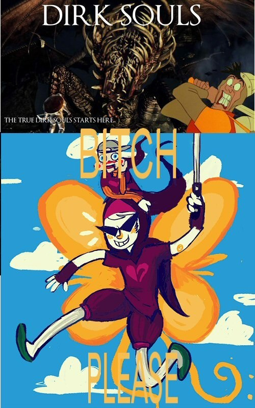 homestuck,dark souls,ms paint adventures