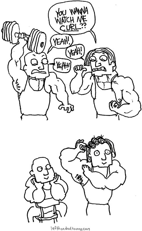 curls workout puns weights web comics - 8110491904