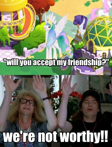 princess celestia friendship waynes world - 8110494720