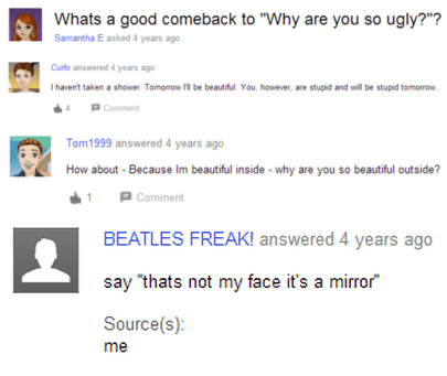 trolling yahoo answers beautiful - 8110504704