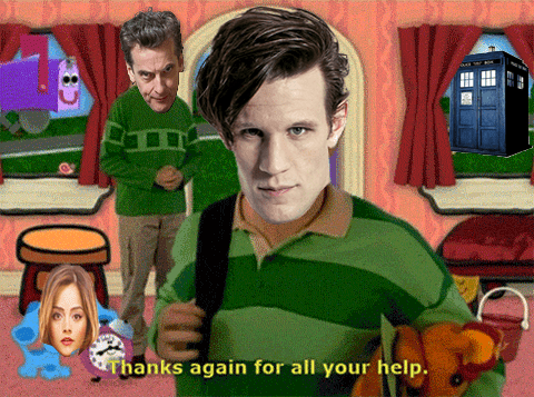 12th Doctor 11th Doctor blues clues - 8110766336