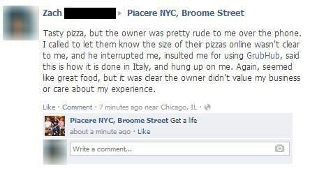 customer service,pizza,new york,burn