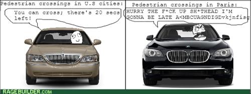 pedestrians rage paris patience driving - 8111412992