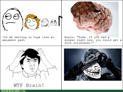 call of duty,trollface,scumbag brain,amusement park,lines,video games,cod