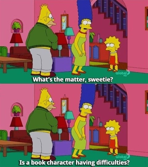 lisa fangirls the simpsons - 8111430400