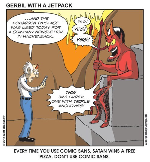pizza sad but true devil web comics comic sans - 8111433216