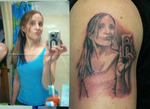 selfie,tattoos,Ugliest Tattoos