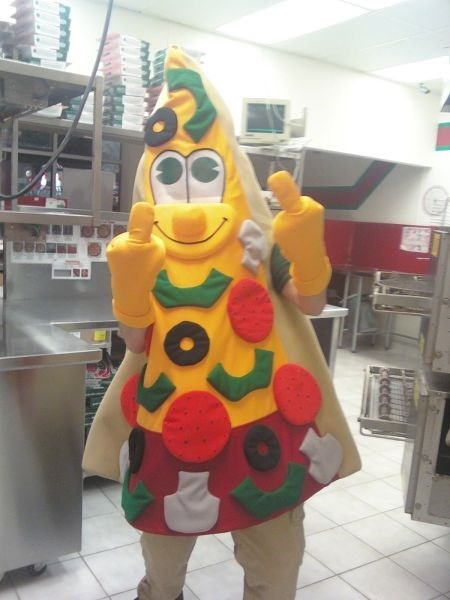 monday thru friday costume pizza flipping the bird work - 8111542016