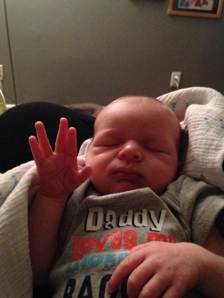 baby parenting vulcan salute g rated - 8111581696