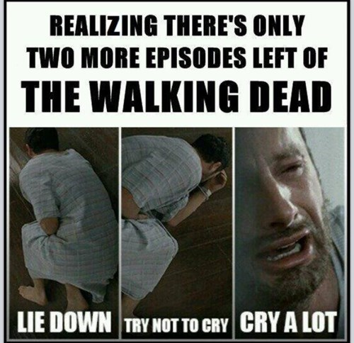 Rick Grimes try not to cry The Walking Dead