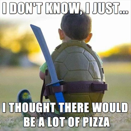 teenage mutant ninja turtles pizza funny - 8111742720