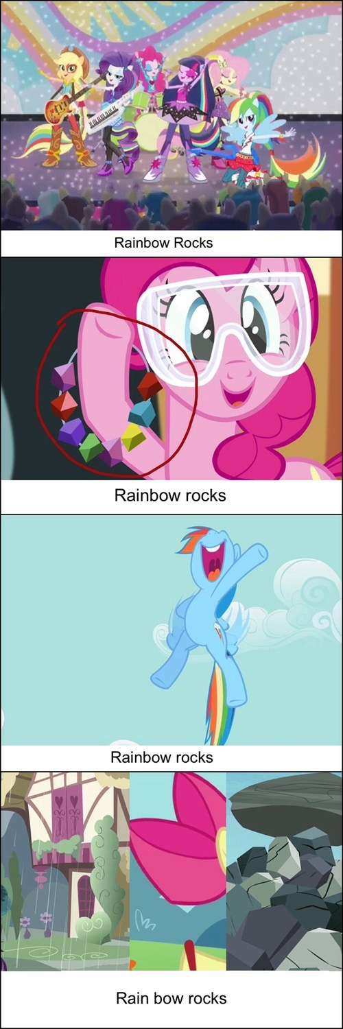 mane 6 rainbow rocks MLP - 8111743488