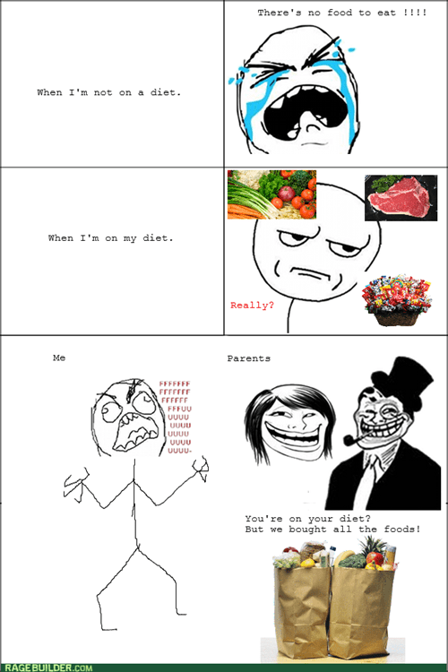rage,diet,trolling,food,eating,parents