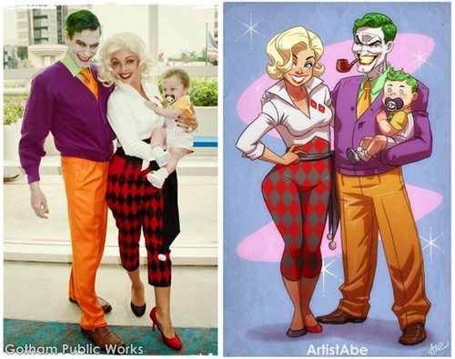 cosplay the joker Harley Quinn - 8111768832