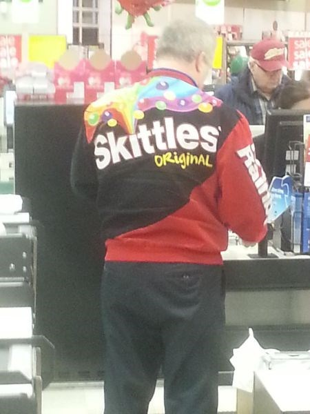 poorly dressed,sweatshirt,skittles