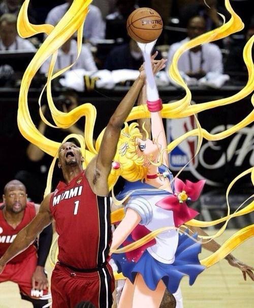 anime Fan Art sailor moon basketball - 8111904768
