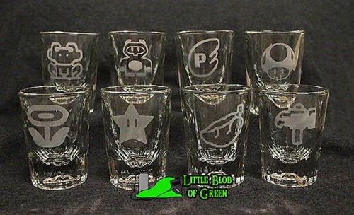etsy,mario,shot glasses