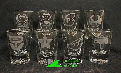 8pc Super Mario Power-Up Bar Shot Set by Little Blob of Green